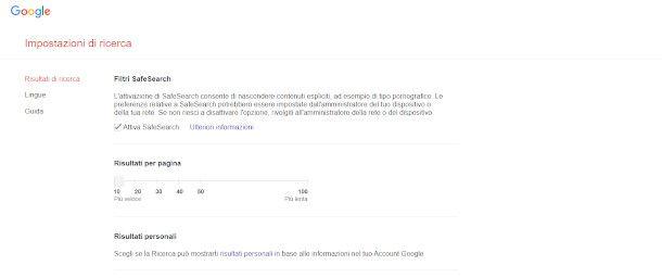 SafeSearch Google