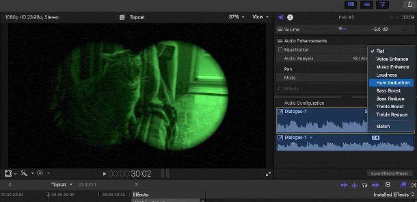 gestione audio final cut pro x