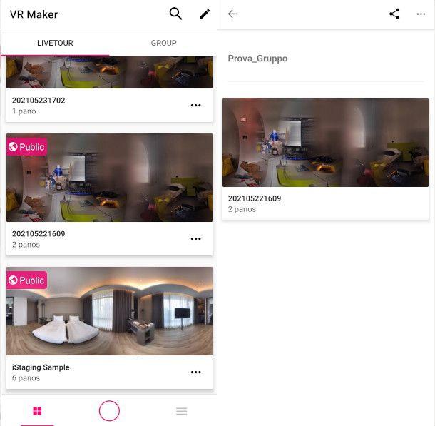 Dashboard di VR Maker
