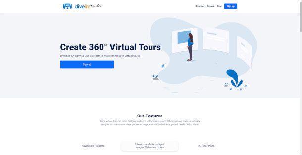 Home Page di DiveIn Studio