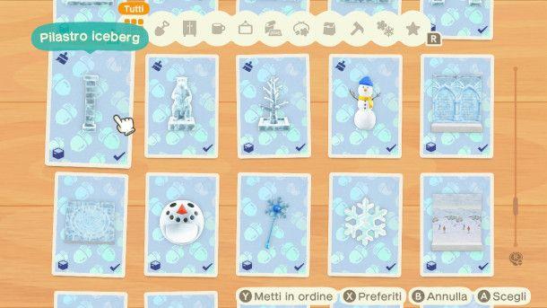 Oggetti invernali in Animal Crossing: New Horizons