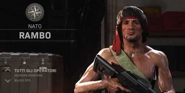 Come impostare skin Rambo su COD Warzone