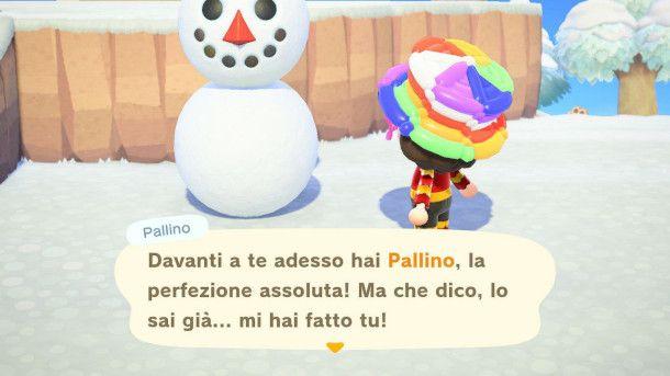 Pupazzo di Neve perfetto in Animal Crossing: New Horizons