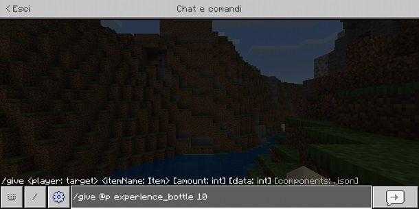 Come givvarsi le cose su Minecraft Bedrock Edition