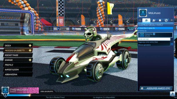 Funzioni social di Rocket League
