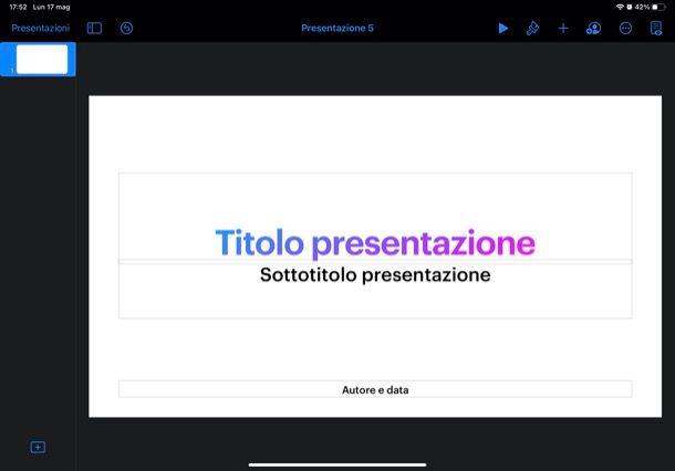 Keynote per iPad