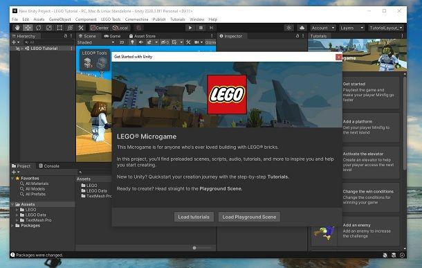 LEGO Microgame Unity