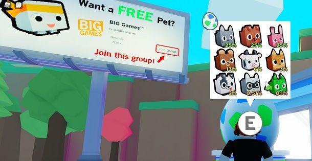 Come avere Pet gratis su Roblox Pet Simulator 2
