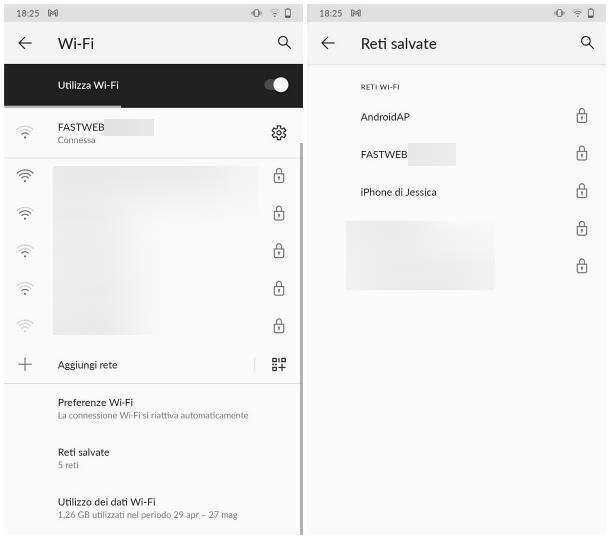 Come vedere la cronologia delle reti WiFi usate