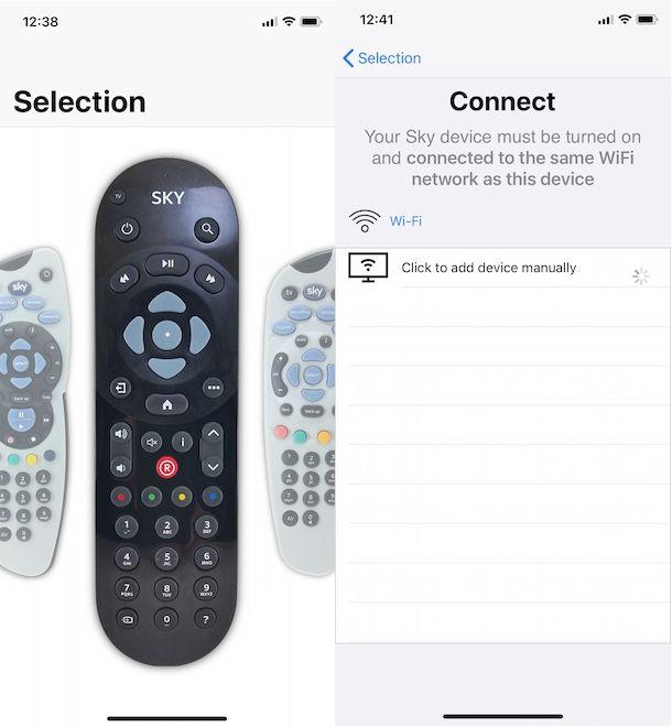 App telecomando Sky