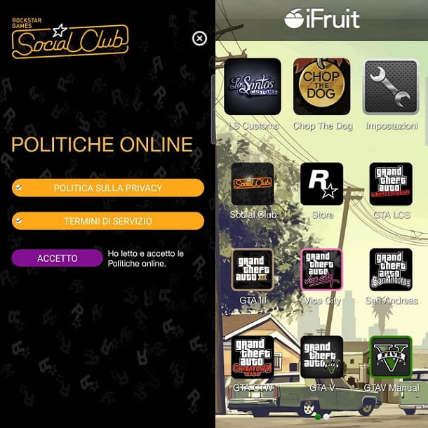 Applicazione iFruit smartphone GTA Online