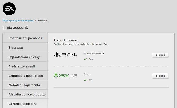 Cambiare account EA FIFA da PC