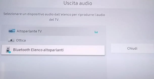 Uscita audio TV Samsung
