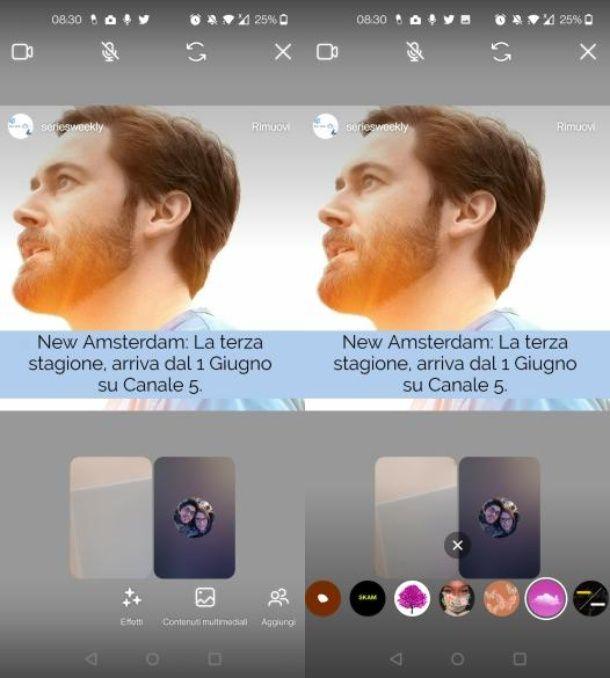 Come usare filtri Instagram in videochiamata