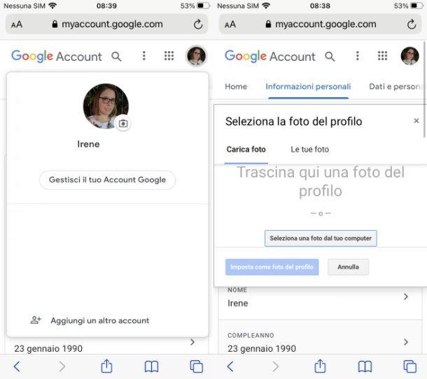 Profilo Google