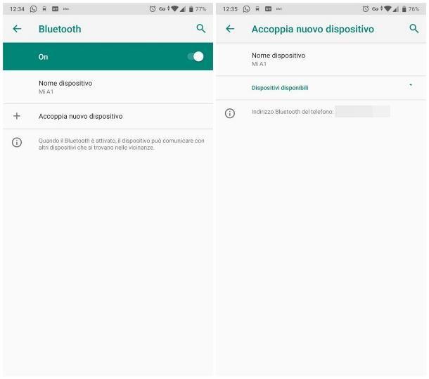 Come associare dispositivi Bluetooth