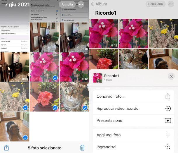 come creare video con app Foto iPhone