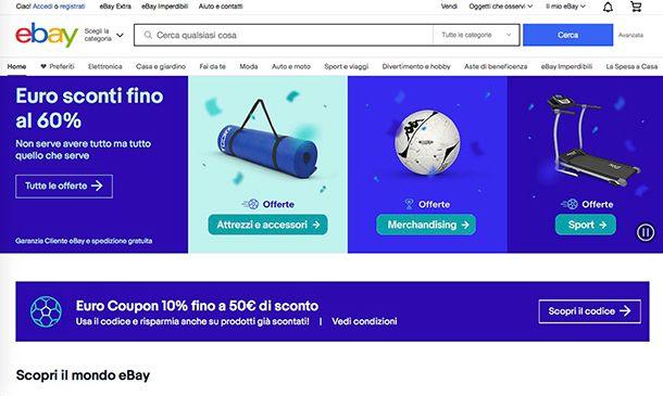 Migliori ecommerce Italia eBay