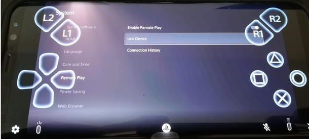 Procedura di spegnimento della PS5 da remoto