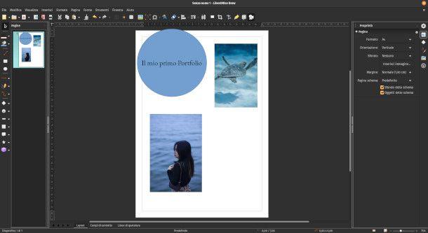 Schermata di LibreOffice Draw