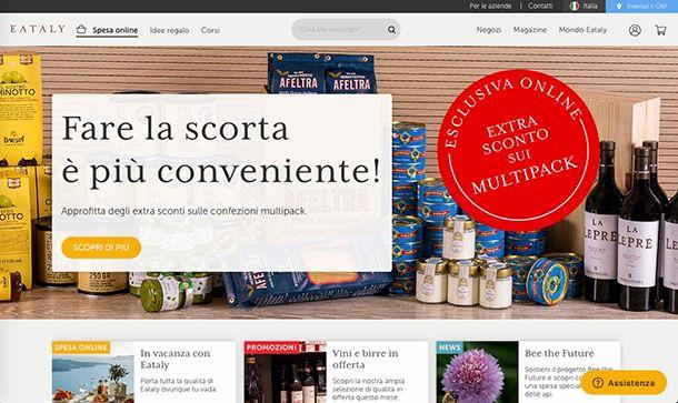 Migliori ecommerce Italia Eataly