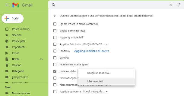 Gmail regola