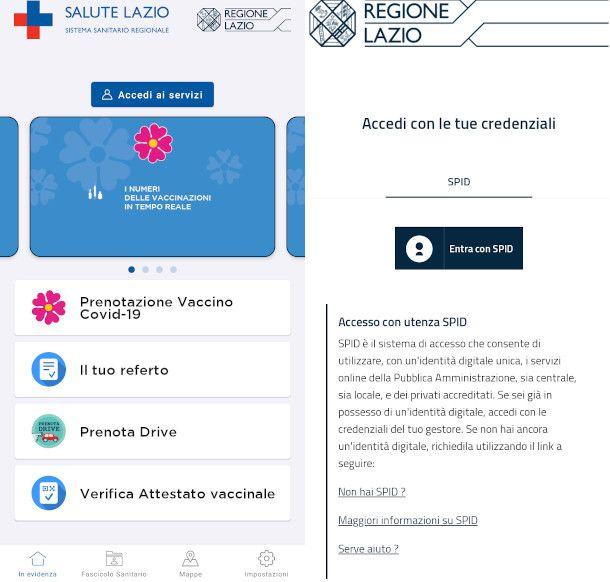 accesso da app con SPID
