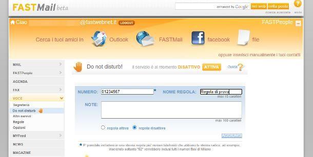 Come bloccare un numero sul telefono fisso: Fastweb