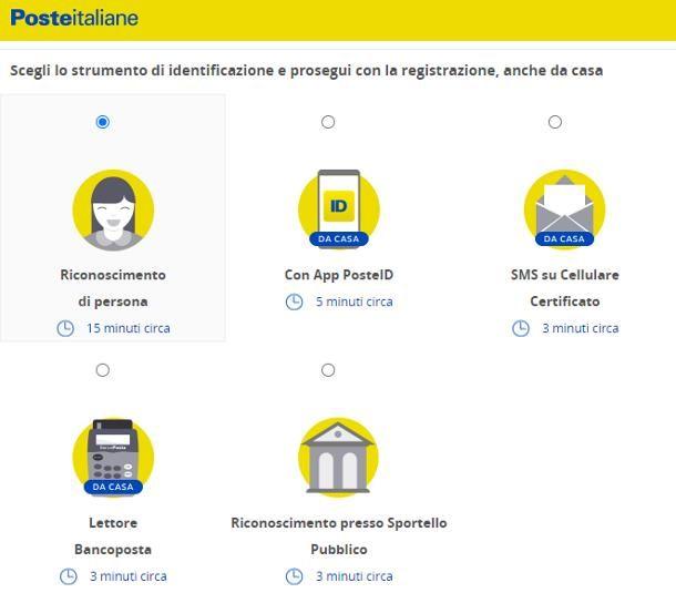 Come attivare SPID livello 2: Poste Italiane