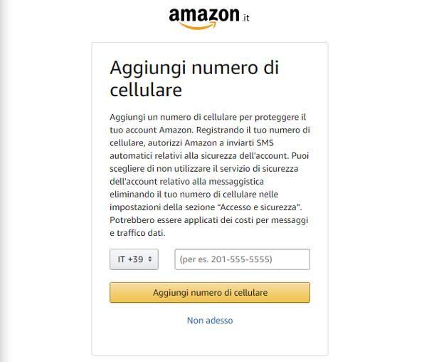 Come cambiare numero di telefono su Amazon: account personale
