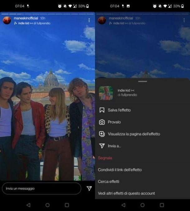 Come usare filtri Instagram senza pubblicare