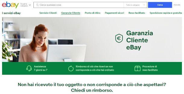 garanzia reso ebay