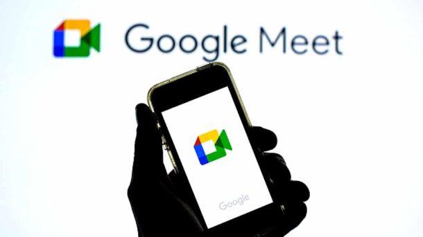 Google Meet smartphone