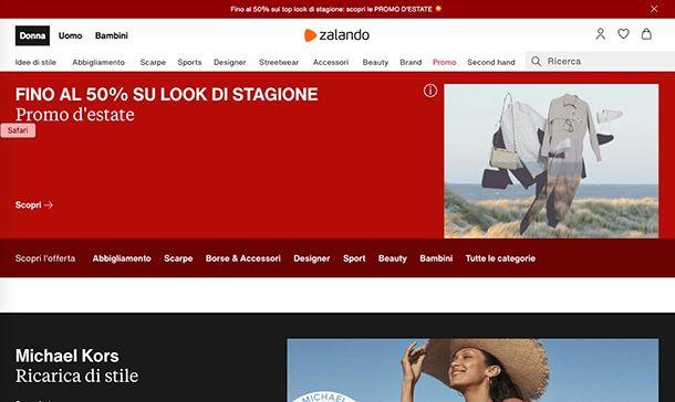 Migliori ecommerce Italia Zalando