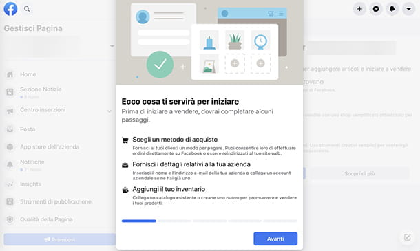 Come diventare ecommerce manager Facebook Shops