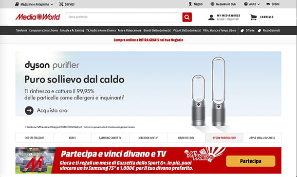 Migliori ecommerce Italia MediaWorld