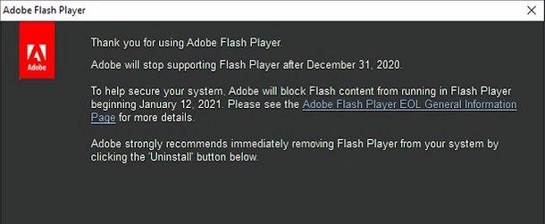 Come sostituire Flash Player