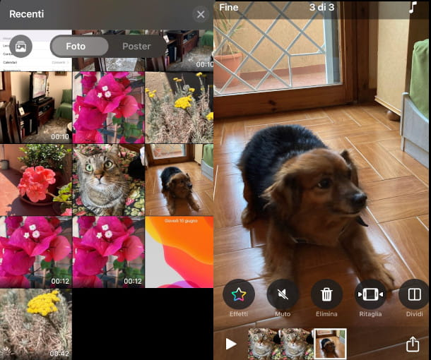 come creare video con foto Clips iPhone