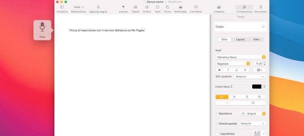 sbobinatura su Mac Pages
