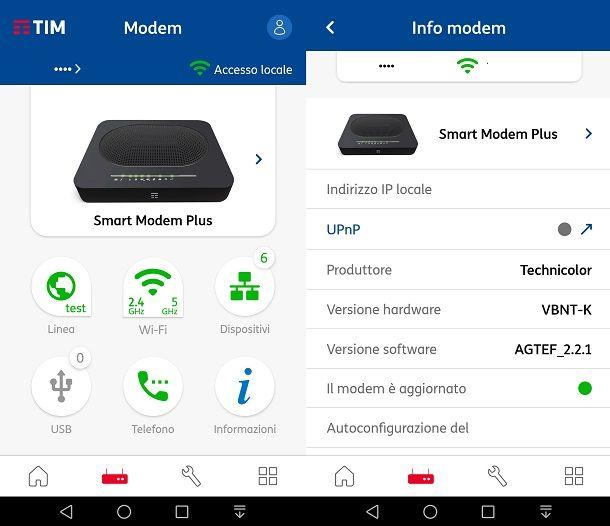 Controllare il firmware e aggiornarlo dall'app TIM Modem