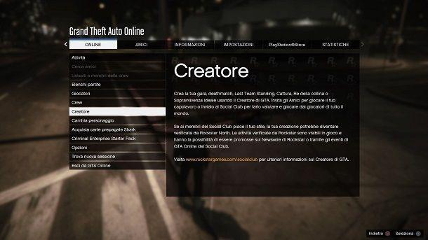 Come creare una gara su GTA Online