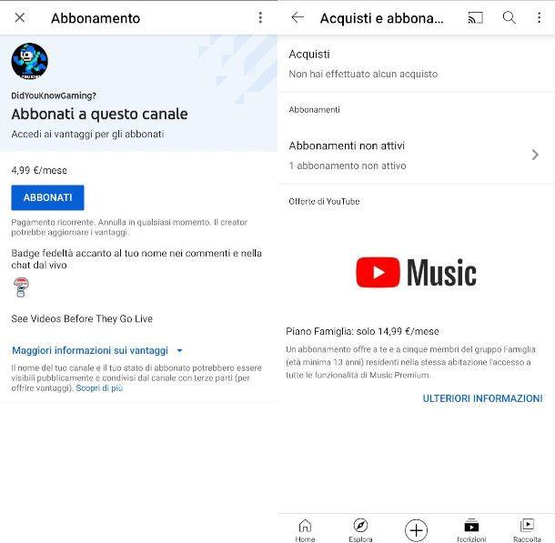 Abbonamenti di YouTube da Smartphone