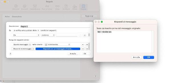 Apple mail regola messaggi indesiderati