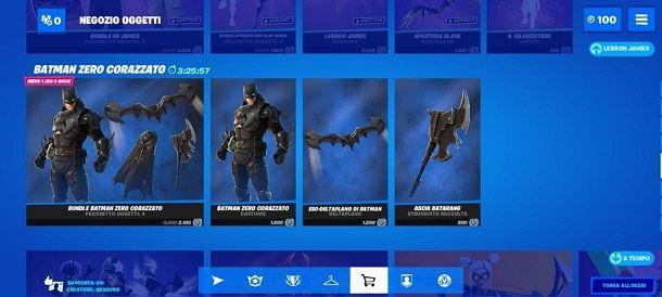Batman Zero Corazzato Fortnite