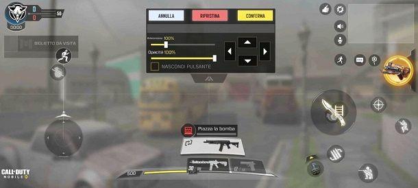 Gestisci comandi Call of Duty Mobile