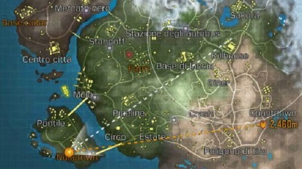 Mappa Call of Duty Mobile Battle Royale