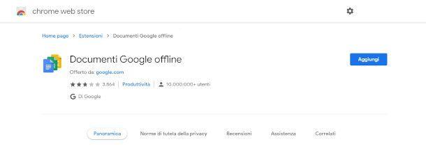 estensione documenti Google offline
