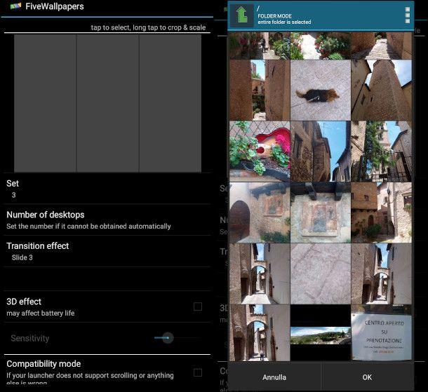 FiveWallpapers aggiunta immagini