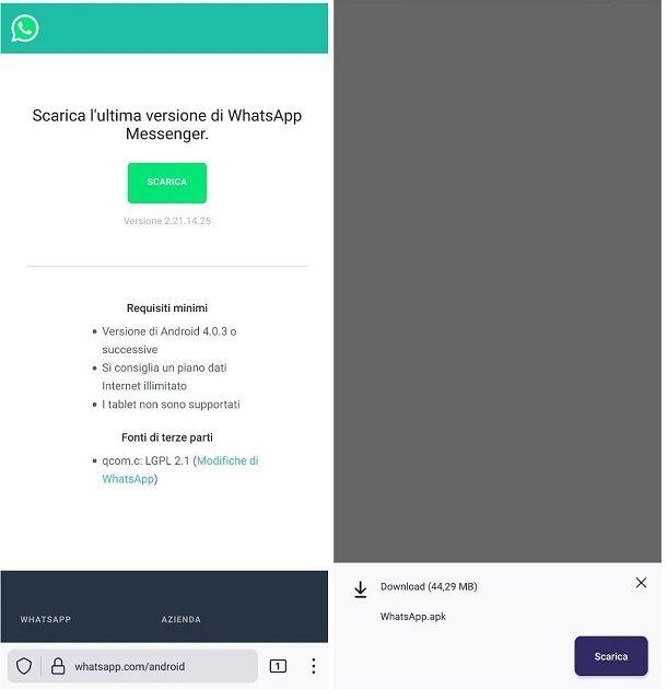 Come aggiornare WhatsApp su HUAWEI senza Play Store