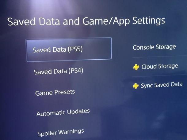 Sincronizzare i salvataggi da PS4 a PS5